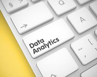 Data Analytics - Inscription on White Keyboard Button. 3D. royalty free stock photography