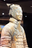Closeup view of middle-ranking officer of the Terracotta Army Royalty Free Stock Photo