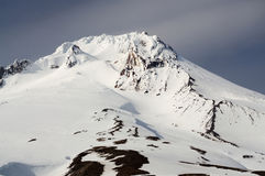Closeup view of mount hood Royalty Free Stock Photos