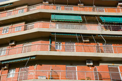 Closeup view of a multistorey building Royalty Free Stock Image