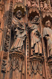 Closeup view of  Notre-Dame cathedral at Strasbourg Stock Images