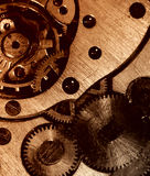 Closeup view of the old mechanism. Royalty Free Stock Photo