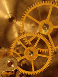 Closeup view of the old mechanism. Abstract techno background Stock Photography