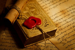 Closeup view of old prayer book Royalty Free Stock Images