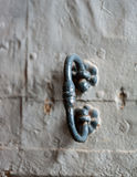 Closeup view of old rustic door handle Stock Photos