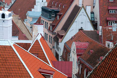 Closeup View of Old Town in Tallinn Royalty Free Stock Image