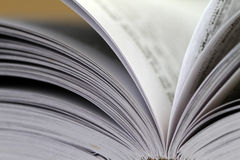 Closeup view of an open book Royalty Free Stock Image