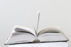 Closeup view of an open book Royalty Free Stock Photos