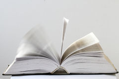 Closeup view of an open book Royalty Free Stock Images