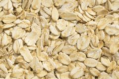 Textures of oatmeal. Closeup view and pattern of some Oatmeal Royalty Free Stock Images