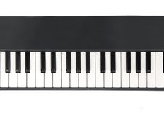 Closeup view of piano keyboard Royalty Free Stock Photography