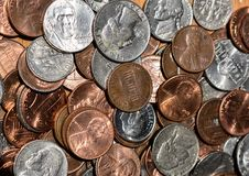 American Coins Background royalty free stock photos