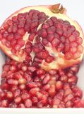 Closeup View of Pomegranate Seeds. Closeup View of Ripe Pomegranate Seeds Royalty Free Stock Image