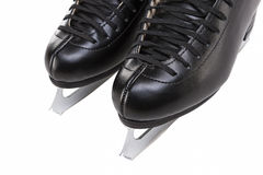 Closeup View of Professional Mens Figure Skates Isolated Over Wh Stock Photo