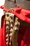 Closeup view of the Roman combat belt baltius Royalty Free Stock Photos