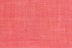 Closeup view of the scarlet linen fabric. Texture for the backgr Royalty Free Stock Images