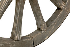 Closeup view of spokes and rim of wagon wheel Royalty Free Stock Photography