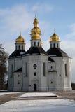 Closeup view of St. Catherine church, Chernihiv Stock Photo