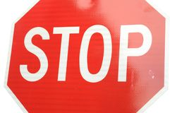 Closeup Stop Sign Royalty Free Stock Images