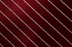 Closeup view of a striped neck tie Stock Images