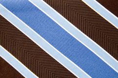 Closeup view of a striped neck tie Royalty Free Stock Photos