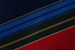 Closeup view of a striped neck tie Royalty Free Stock Photo