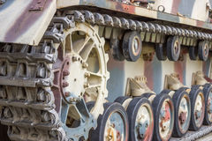 Closeup view of tank caterpillar part 2 Stock Images