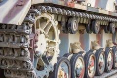 Closeup view of tank caterpillar part 2. Closeup view of military tank caterpillar part Stock Images
