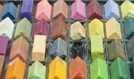 Box of colorful pastel sticks Royalty Free Stock Image