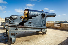 Closeup view to gun of Valetta saluting battery Stock Photo