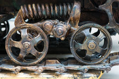 Closeup view of tractor wheels Stock Photos