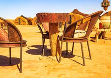 Traditional berber nomad hostel in the desert Morocco. Closeup view on traditional berber nomad hostel in the desert Morocco Royalty Free Stock Photo