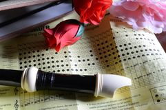 Recorder Musical Instrument Royalty Free Stock Images