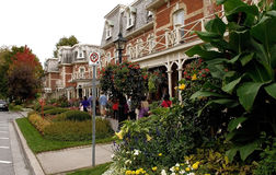 Closeup view of a Victorian hotel. Royalty Free Stock Photos