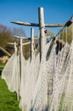 Closeup view on vintage fishing net Stock Images