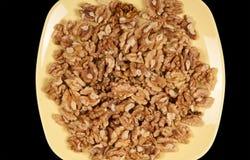 Closeup view of walnut purified Stock Photography