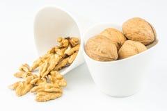 Closeup view of walnuts Stock Photos