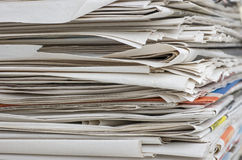 Closeup view of a wastepaper stack Stock Photography