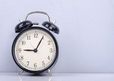 Vintage alarm clock for time management concept Royalty Free Stock Photo
