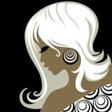 Closeup vintage blond woman Stock Images