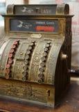 Closeup of vintage cash register Stock Images