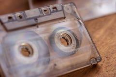 A Closeup Of A Vintage Cassette Tape stock photo
