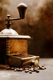 Closeup of vintage coffee grinder Stock Photo