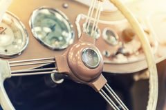 Closeup on a vintage dashboard Royalty Free Stock Images