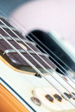 Closeup of vintage electric guitar pickup Royalty Free Stock Images