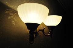 Closeup vintage Lamp on the wall Royalty Free Stock Image