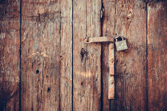 Closeup vintage old wooden door Royalty Free Stock Image