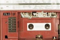 Closeup vintage radio cassette player Royalty Free Stock Photos
