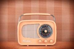 Closeup Vintage Radio on table Royalty Free Stock Image