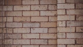 Closeup of A Vintage Retro Brick Pattern Wall In Downtown Coeur d`Alene Idaho That Can Make Good Background and Wallpaper. The repetitive pattern can be very Royalty Free Stock Photography